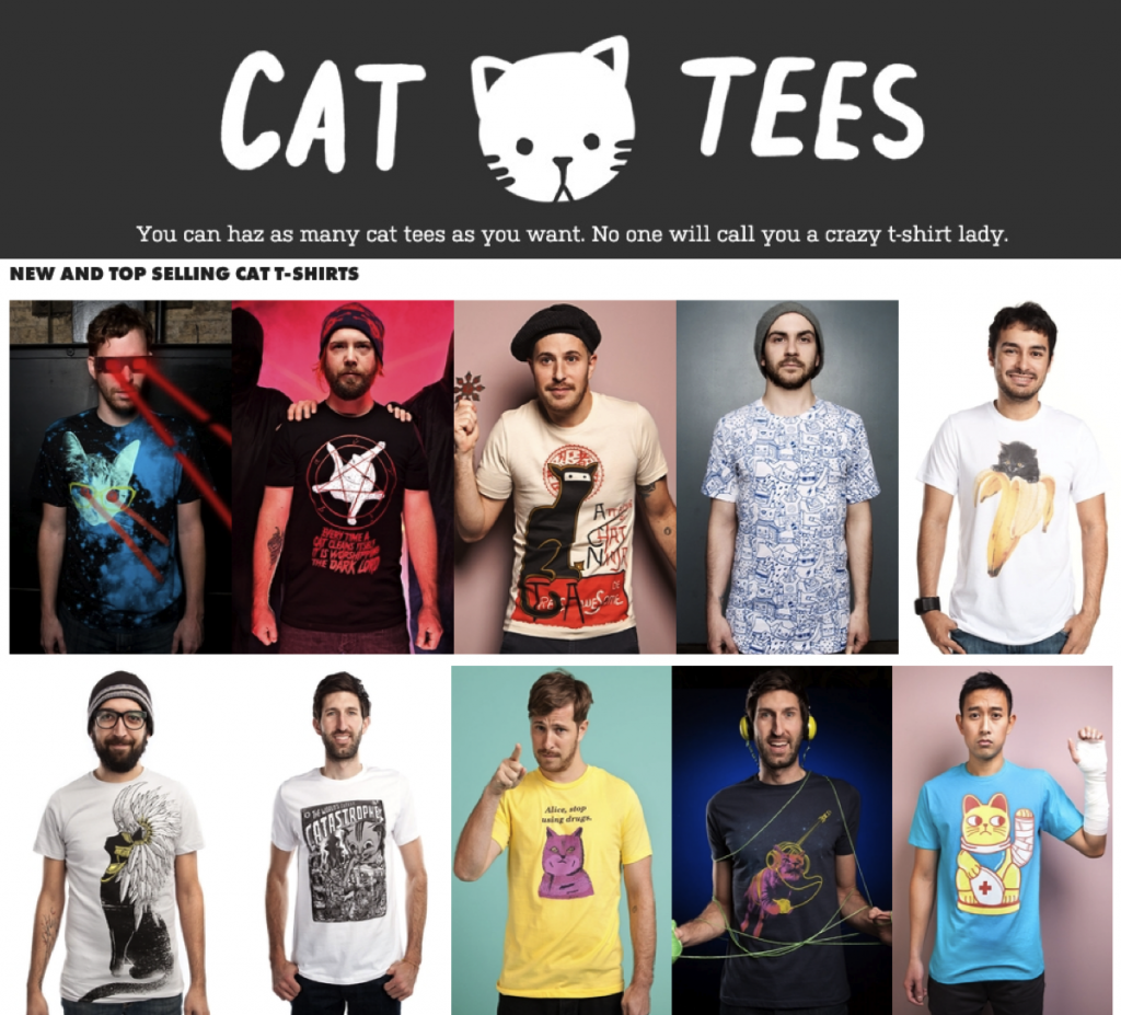 Cat T-Shirts Threadless