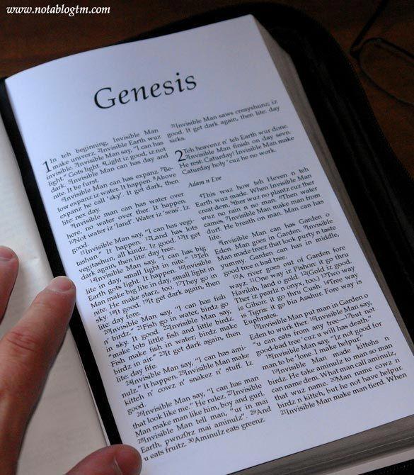 La Bible traduite en LOLcat
