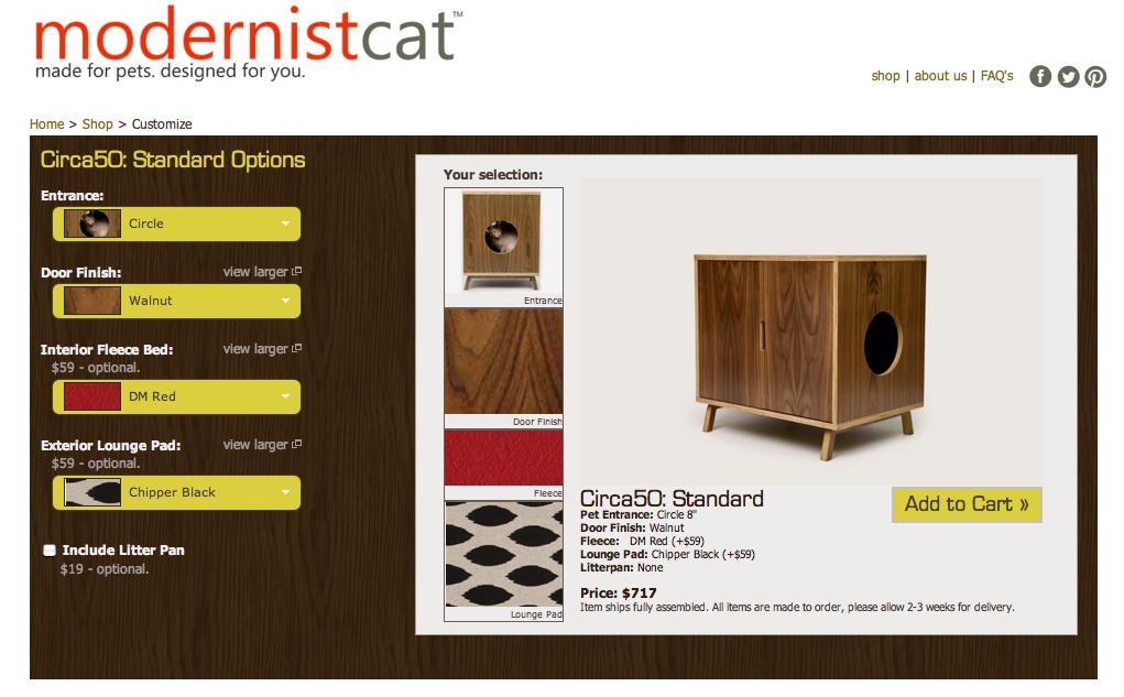 Modernist Cat shop