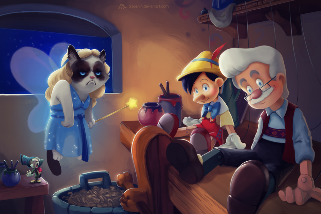 Disney Grumpified > Pinocchio