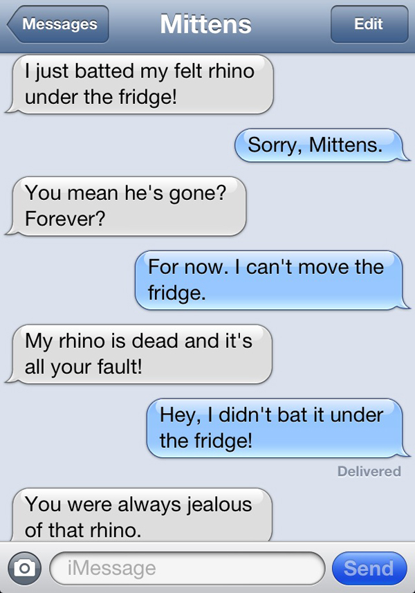 Text from Mittens : Si mon chat pouvait envoyer des SMS