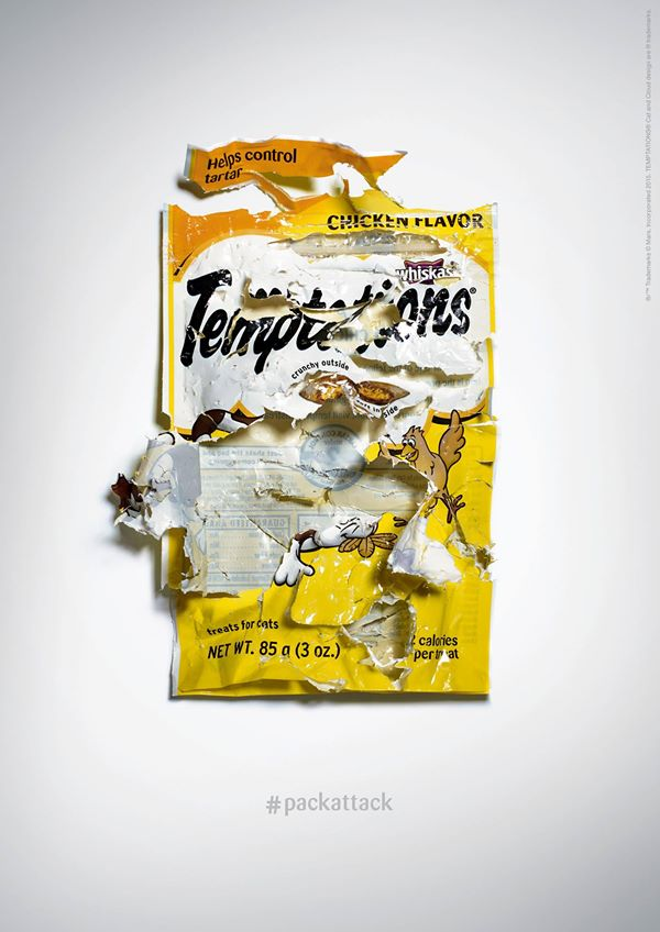 Campagne Pack Attack Friandises Catisfactions / Temptations
